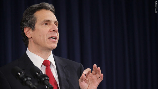 N.Y. governor cuts his pay, could freeze state salaries
