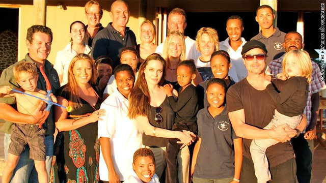 Brad &amp; Angelina donate $2M to Namibia charity