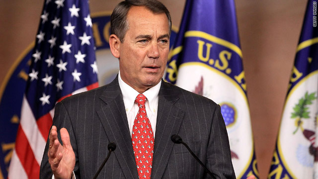 Boehner to livestream opening day of new Congress on Facebook