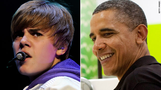Obama edges out Bieber on Twitter