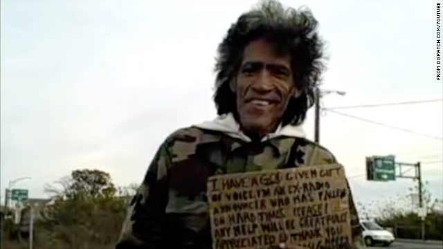 Homeless man with 'golden voice' lights up Web, gets job offers