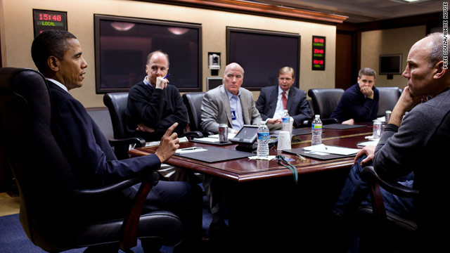 President Obama is briefed on the shooting in Arizona