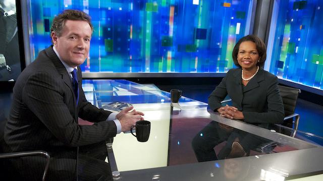 "First interview on the ""Piers Morgan Tonight"" set: Condoleezza Rice"