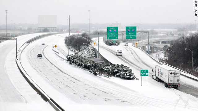 Travel affected as winter storm rolls across the South