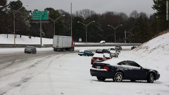 Rapid snowfall blankets southeast; icy conditions expected