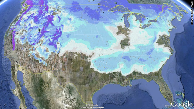 Snow present in 49 of the 50 U.S. states