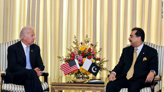 Vice President Biden arrives in Pakistan