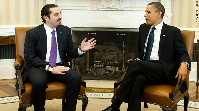 Obama meets with Lebanese prime minister