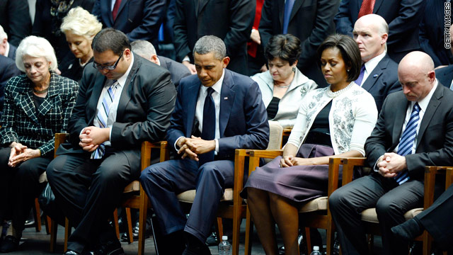 Obama headlines memorial for victims of Saturday's shooting