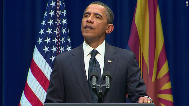 Transcript: President Obama addresses Arizona shooting memorial