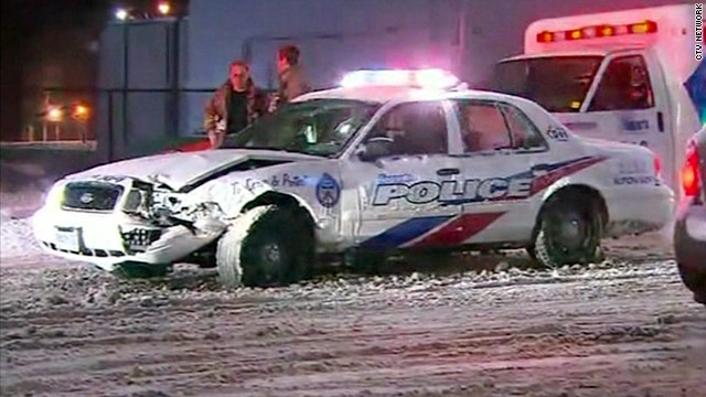 Barefoot man steals snow plow, kills cop