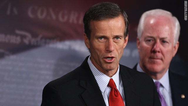 Thune heads to GOP conference