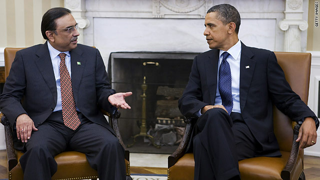 Obama and Pakistani president discuss terrorism and Afghanistan