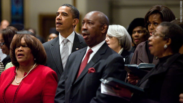 Obamas attend church in Washington