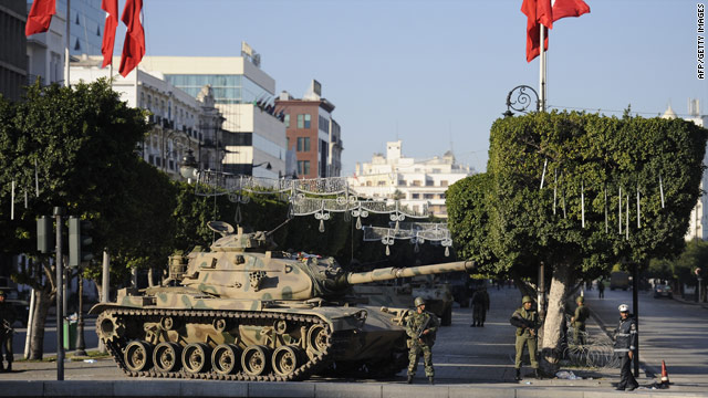 Troops battle ex-ruler's bodyguards in Tunisia