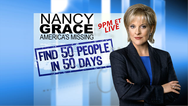 Nancy Grace's goal: Find 50 people in 50 days
