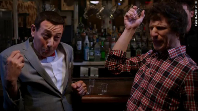 This is what happens when Pee-Wee and Andy Samberg drink