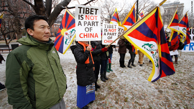 Tibet protest at the White House