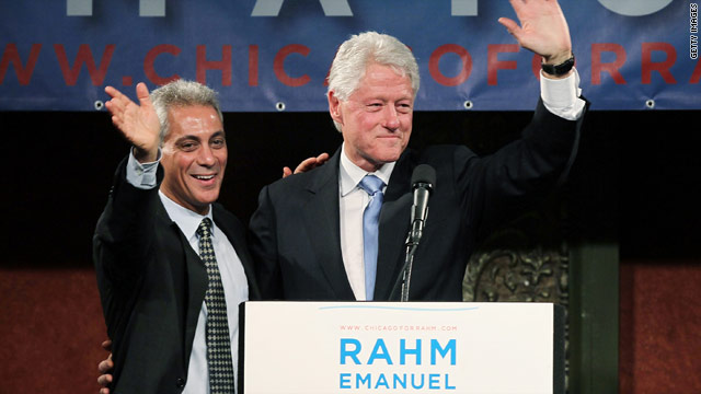 Bill Clinton pushes candidacy of former aide