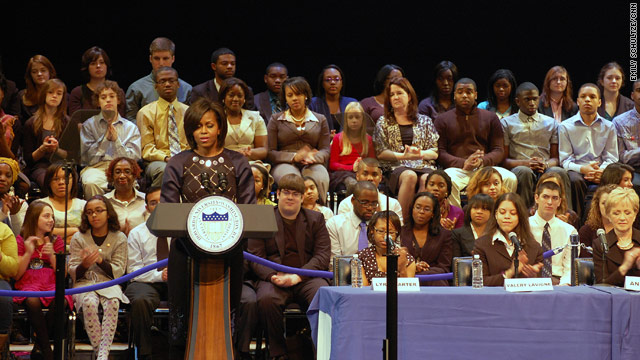 Mrs. Obama urges students to study abroad