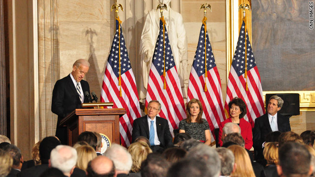 Photo: Biden at JFK ceremony