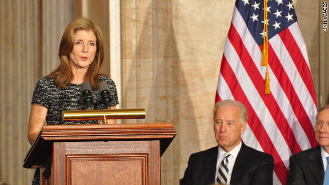 Photo: Caroline Kennedy at JFK ceremony