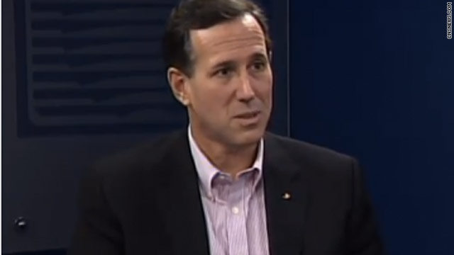 Santorum plays multiple cards from a hot button deck