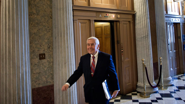 Lugar heads home to begin fight for re-election