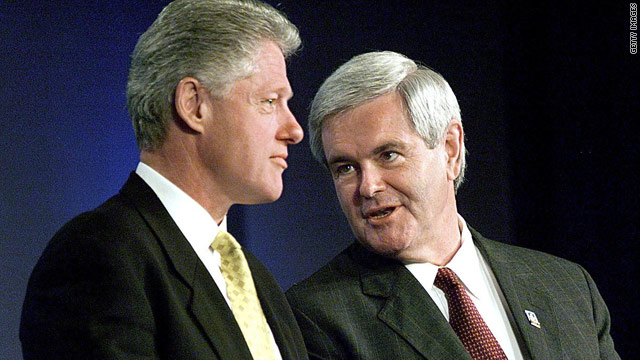 Clinton in control, Gingrich says
