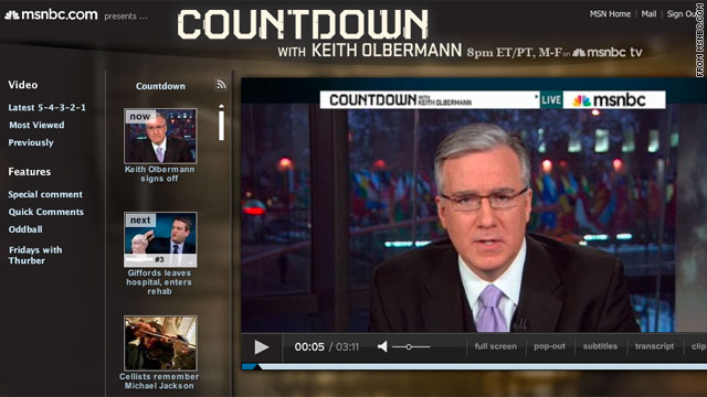 Keith Olbermann, MSNBC part ways