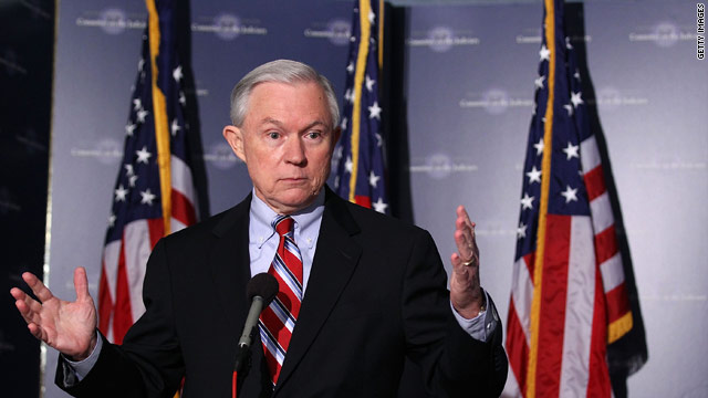 Sessions takes on Senate immigration gang