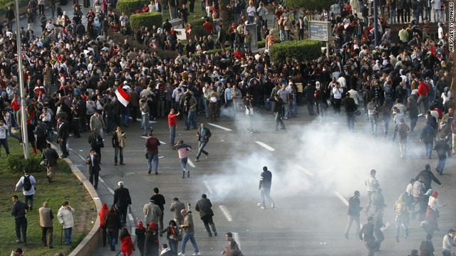 Thousands protest in rare Cairo mass uprising