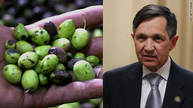 Olives are the pits if you're Dennis Kucinich