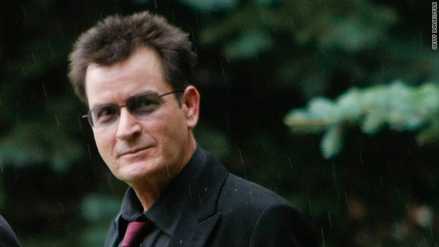 Charlie Sheen taken to hospital