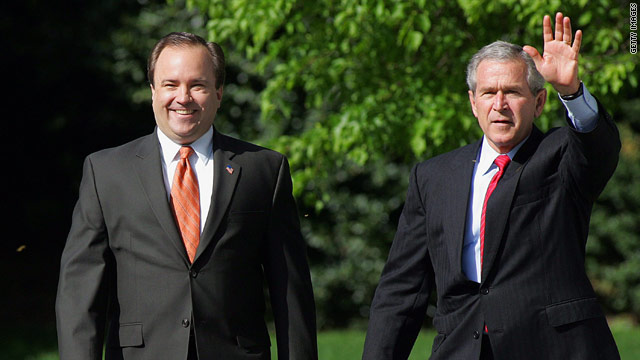 Former President George Bush with Scott McClellan