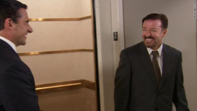 David Brent meets Michael Scott on 'The Office'