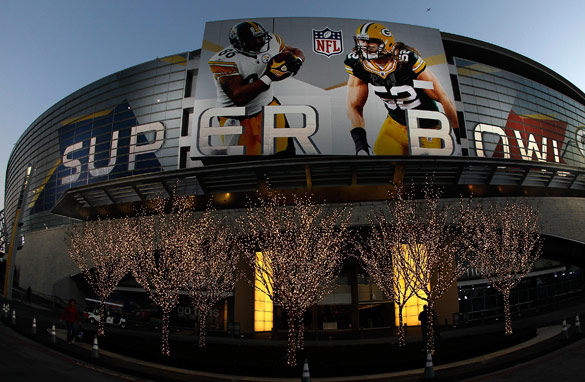 The Green Bay Packers take on the Pittsburgh Steelers in Sunday's Superbowl at the Cowboys Stadium in Arlington, Texas. Last year an average of 121 million viewers watched the game on televsion.