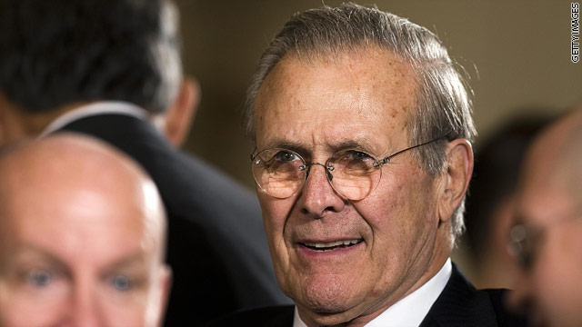 Rumsfeld says blame to go around on Iraq