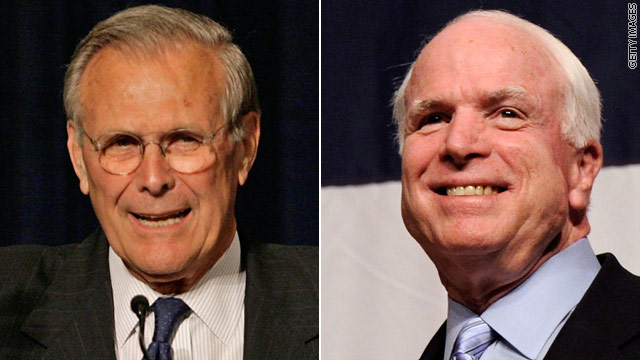 McCain and Rumsfeld clash, again