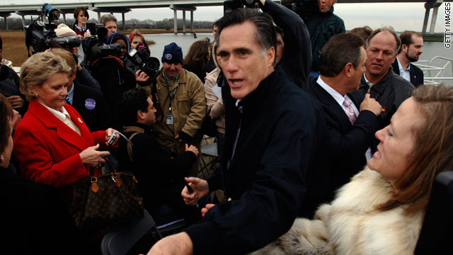 Romney doles out the cash