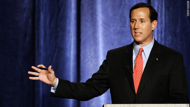 Santorum takes aim at Daniels