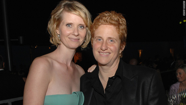 Cynthia Nixon, Christine Marinoni welcome a baby boy