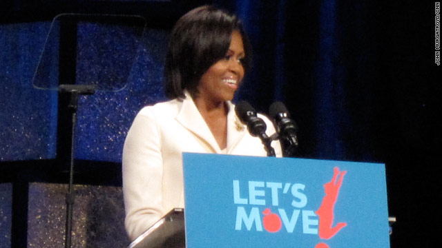 First lady visits Atlanta church, encourages healthy living
