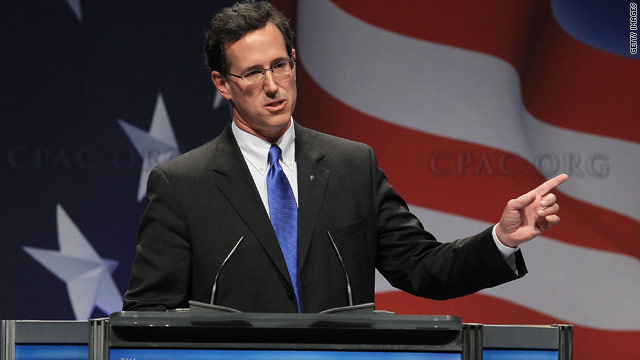 Santorum digs Obama, touts social values