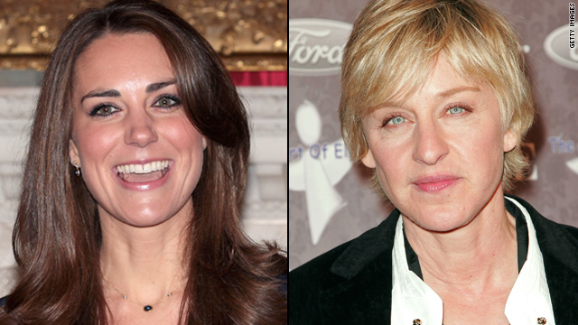 Kate Middleton and Ellen DeGeneres are cousins