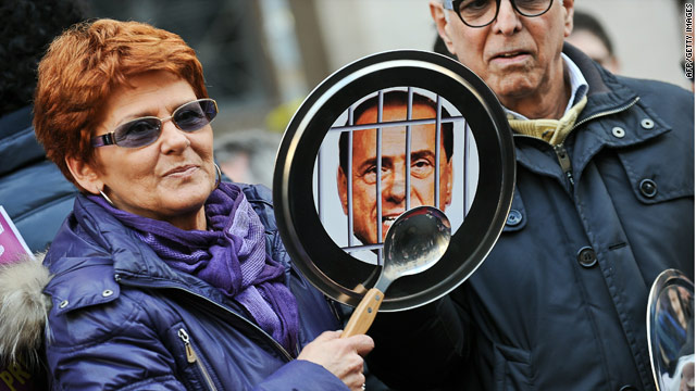 Rallies across Italy protest Berlusconi&#039;s sex scandal