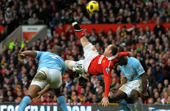 Wayne Rooney&#039;s super strike against Manchester City could be the turning-point in his career. (AFP/Getty Images)