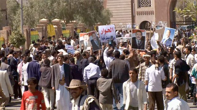 Protesters clash in Yemen&#039;s capital