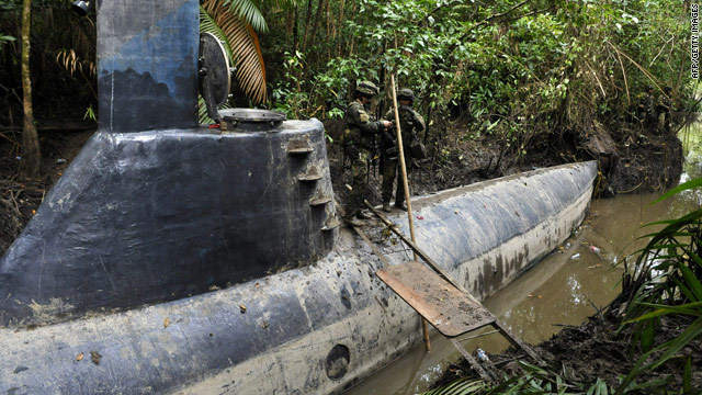 100-foot-long narco sub found in Colombia