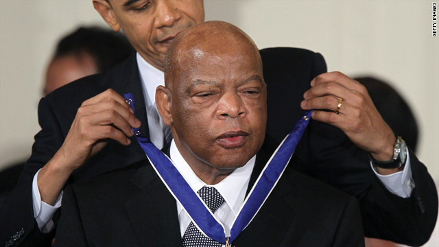 Lewis reflects on receiving Medal of Freedom